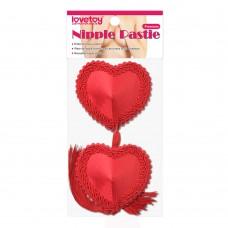 Reusable Red Heart Tassels Nipple Pasties